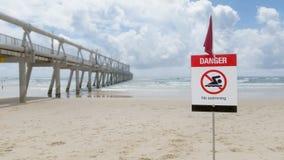 Il pericolo - nessun segno 1 di nuoto immagini stock libere da diritti