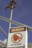 Il pericolo non beve Immagini Stock