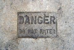 Il pericolo non entra fotografia stock