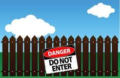 Il pericolo - non entri Fotografie Stock Libere da Diritti