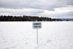 Il pericolo pensa il ghiaccio Fotografia Stock