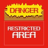Il pericolo Zona limitata Fotografia Stock