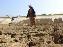 Il periodo di siccità in Indonesia Fotografie Stock Libere da Diritti