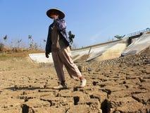 Il periodo di siccità in Indonesia Fotografie Stock