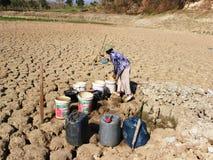 Il periodo di siccità in Indonesia Fotografia Stock
