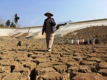 Il periodo di siccità in Indonesia Immagine Stock