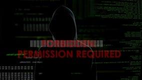 Il permesso ha richiesto il messaggio sullo schermo, tentativo d'incisione infruttuoso sul server archivi video