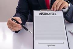 Il personale ha raccomandato i benefici di copertura di assicurazione Fotografia Stock Libera da Diritti