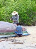 Il pescatore Fotografia Stock