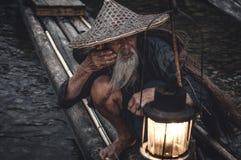 Il pescatore di Cormorant Immagine Stock