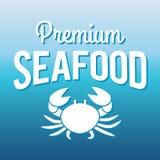 Il pesce e la griglia del menu dei frutti di mare identificano/distintivo Fotografie Stock Libere da Diritti