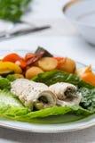 Il pesce rotola con le verdure Immagine Stock Libera da Diritti