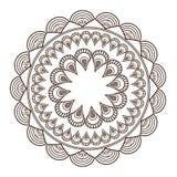 il petali rotondo gradisce la linea decorativa icona della mandala Immagini Stock Libere da Diritti