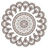 il petali rotondo gradisce la linea decorativa icona della mandala Fotografie Stock Libere da Diritti