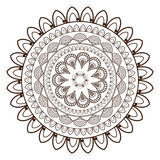 il petali rotondo gradisce la linea decorativa icona della mandala Fotografia Stock