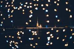 Il Peter e Paul Fortress è la cittadella originale di St Petersburg, Russia, fondata da Peter le grande nel 1703 fotografia stock libera da diritti