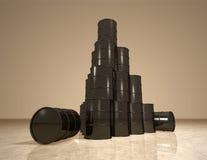 Il petrolio barrels la piramide Immagini Stock Libere da Diritti