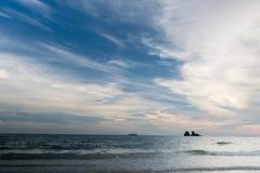 Il pezzo bianco del cielo è formato meravigliosamente, Fotografia Stock Libera da Diritti