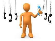 Il phonecall più importante Fotografia Stock