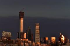 Il più alta costruzione Pechino - in Cina Zun Fotografie Stock Libere da Diritti