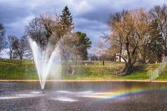 Il più alta fontana dell'Estonia fotografia stock