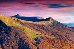 Il più alta montagna di divisione della gamma nel Carpathi ucraino Immagini Stock Libere da Diritti