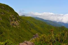 Il più alta montagna Pico Ruivo dell'isola del Madera Immagini Stock