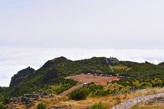 Il più alta montagna Pico Ruivo dell'isola del Madera Fotografia Stock