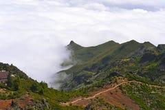 Il più alta montagna Pico Ruivo dell'isola del Madera Fotografie Stock