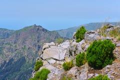 Il più alta montagna Pico Ruivo dell'isola del Madera Fotografie Stock Libere da Diritti