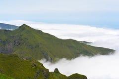 Il più alta montagna Pico Ruivo dell'isola del Madera Immagini Stock Libere da Diritti