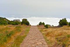 Il più alta montagna Pico Ruivo dell'isola del Madera Fotografia Stock Libera da Diritti