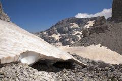Il più alto picco alle alpi albanesi Immagine Stock