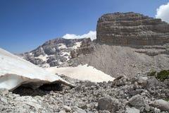 Il più alto picco alle alpi albanesi Fotografia Stock Libera da Diritti