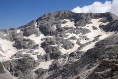 Il più alto picco alle alpi albanesi Immagine Stock Libera da Diritti