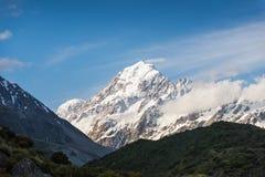 Il più alto picco delle alpi di Southen in Nuova Zelanda. Fotografie Stock Libere da Diritti