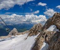 Il più alto picco nelle dolomia italiane, Marmolada Fotografia Stock Libera da Diritti