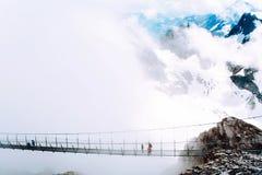 Il più alto ponte sospeso in Europa Immagini Stock Libere da Diritti