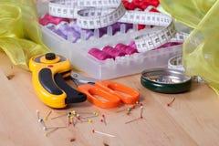 Accessori di cucito Fotografie Stock