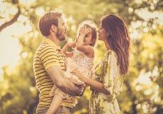 Il più felice delle famiglie immagine stock libera da diritti
