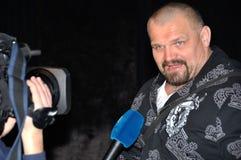 Il più forte uomo Vasyl Virastuk del mondo fotografia stock