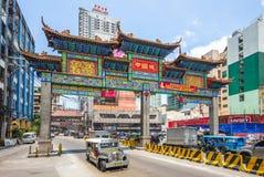 Il pi? grande arco di Chinatown del mondo a Manila fotografia stock libera da diritti