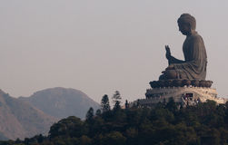 Il più grande Buddha del mondo in Hong Kong Fotografia Stock Libera da Diritti