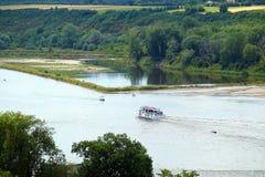 Il più grande fiume polacco Vistola la Vistola, intorno a Kazimierz Dolny fotografia stock libera da diritti