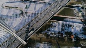 Il più grande ponte nel mondo, vista aerea stock footage