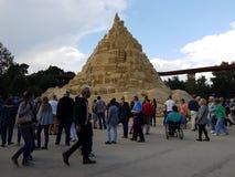 Il più su in mondo il castello di sabbia 16,68 misura nel 2017 Fotografia Stock
