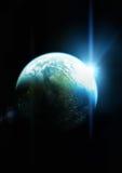 Il pianeta blu Fotografia Stock Libera da Diritti