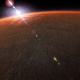 Il pianeta di Marte Fotografia Stock
