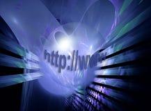 Il pianeta ed il Internet blu Fotografie Stock Libere da Diritti