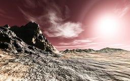 Il pianeta sconosciuto Fotografia Stock